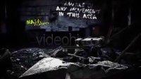 恐怖电影中的文字效果AE视频模板(含音频)