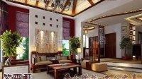 河南中式家庭住宅装修效果图—紫云轩中式设计机构