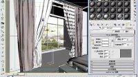 [室内效果图制作-VR材质篇].17-单色与花纹玻璃窗纱材质