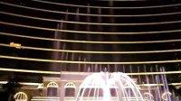 夜晚澳门永利赌场音乐喷泉表演