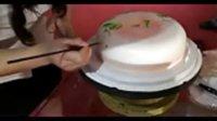 生日蛋糕 彩绘蛋糕的制作 青岛东晖蛋糕学校 校庆表演