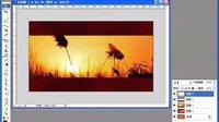 醉红尘PS单图音画---晚霞中的红蜻蜓