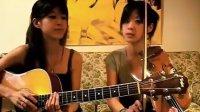 台湾双胞胎美眉弹唱爱拼才会赢