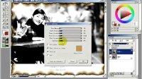 Painter从入门到精通__十二.制作黑白效果照片及有趣的边框特效3.使用燃烧命令制作照片边框