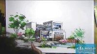 福州手绘别墅景观马克笔上色表现下
