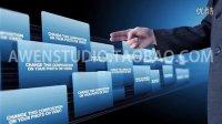 科技感商务触屏企业宣传展示AE模板1