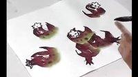 国画--跟徐湛老师学中国花鸟画  第15章 石榴的画法(2)
