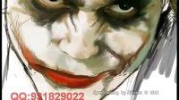 用PS创作的小丑速画像.