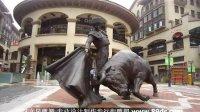 武汉光谷步行街铜雕像 西班牙斗牛士铜雕 步行街景观雕塑 武汉雕塑雕刻设计制作 铜牛制作