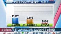 中石化去年净利707亿 三大油企中石油最赚钱 110328 财经中间站