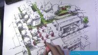 2012福建农林大学研究生快题设计--几何建筑鸟瞰效果图3