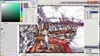 景观手绘之电脑上色过程