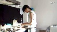 1107-独自操作的香菇鸡肉粥1