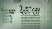 另类排版的文字风格AE模板,视频模板,videohive模板,revostock模板
