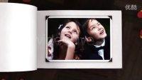 唯美3D质感真实相册家庭婚礼感恩照片展示AE模板!