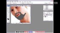 [PS]PS教程 photoshop教程 让胡须更浓密 入门教程