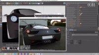 C4D – 意大利的法拉利458辛烷值渲染效果预览