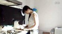 1107-独自操作的香菇鸡肉粥2