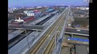 航拍天津城市发展,天津交通枢纽,和谐号,天津火车站,背景国际机场,天津城市交通,高速视频素材影视素材