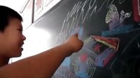 儿童粉笔手绘自创红警2