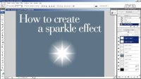 [PS]PS 闪光制作 -Create a Sparkle Effect in Photoshop (HD)