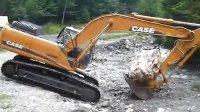 凯斯Case CX290挖掘机在搬石头