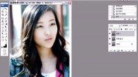 PS数码照片教程之九让美女的眼睛增大,显得更美丽。