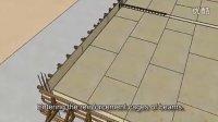 SketchUp虚拟建造动画--梁及板钢筋砼施工过程