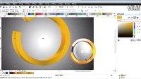 CDR实例课程 CorelDRAW设计圆形立体标志 学习Q Q群:36918831