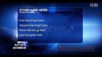 新闻类模板系列 新闻片头字幕条提要等-3  AE模板 可代修改