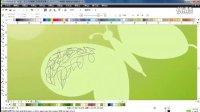 CDR实例课程 CorelDRAW绘制蝴蝶的梦