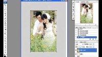 ps教程  照片的处理效果;淡彩背景