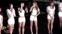 少女时代日本出道非常可爱的身穿白色超短裤的少女时代美女.