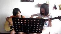 王童语 丫头 吉他弹唱 暑期吉他学员入门一个月上课试弹