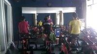 湖南长沙闪亮升华健身教练培训黄莲老师(湖南省自行车省队)单车课