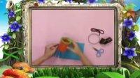 幼儿手工作品《环保手工之灯笼》手工视频