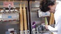 巨大的韩国蛋卷冰淇淋
