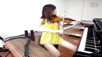 一个人演奏三种乐器 台湾网络人气美女 林逸欣