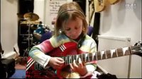 Six-Year-Old Girl Plays -Sweet Child of Mine