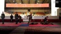 广州武警指挥学院擒拿术表演(右边的王总要不要这么拼啊)