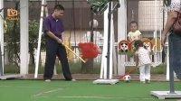 视频: 3-6岁游戏 体育游戏:追滚球 亲子游戏