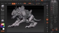 自学迷素材网Creating_an_Armored_Beast_in_ZBrush