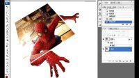 ps教程 穿越屏幕的蜘蛛侠