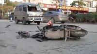 面包车疑似超速 女子上班途中被撞身亡