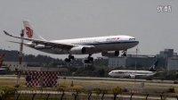 国航空客A330-200降落广州白云机场
