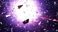 A00132--紫色火花酷炫粒子碎片LOGO展示AE模板