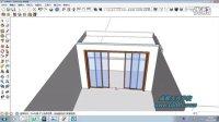 成都方兴学校室内设计Sketchup室内房屋建模