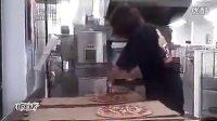 啊三切批萨也开挂啊!3秒钟切好一整块