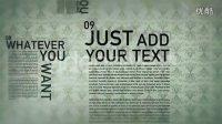 NO.0645 idobe 简洁灵活文字排版公司宣传文字动画AE模板