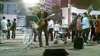 广州太阳城广场的街头歌手 勇气